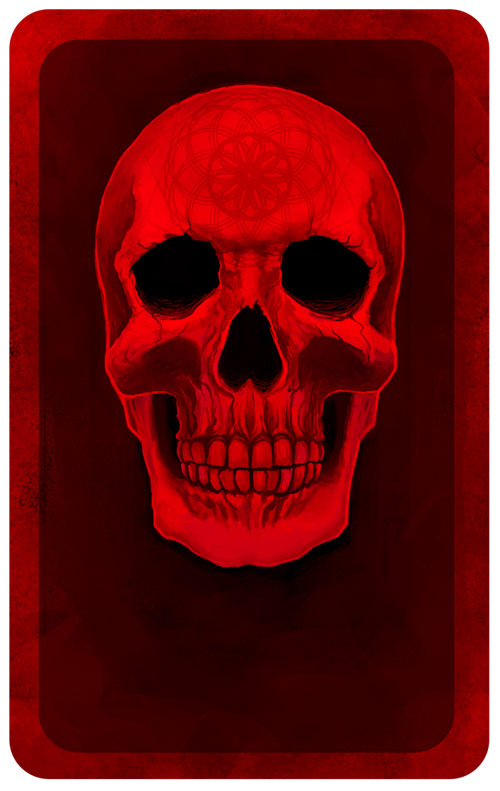 Red skull by OneHornyUnicorn