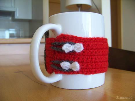 Cubretazas inspirado en Hello Kitty