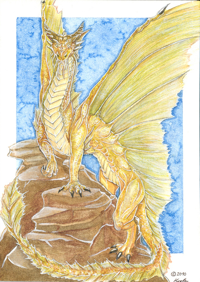 Golden Dragon By Maylara On DeviantArt