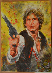 Han Solo acryl painting by djinnie