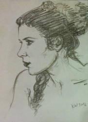 Princess Leia sketch by djinnie
