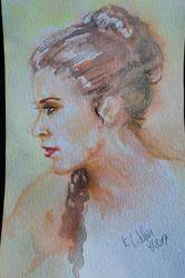 Princess Leia  watercolor by djinnie