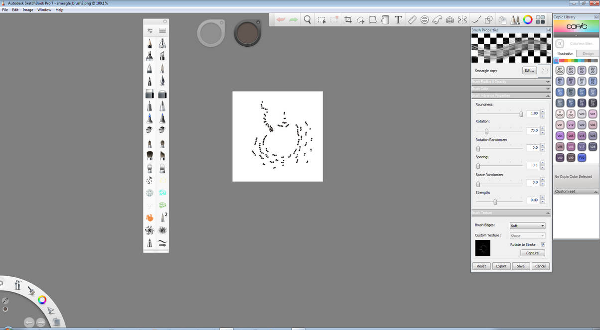 Smeargle - Autodesk Sketchbook Pro - Smudge Brush by LliaOlsen on