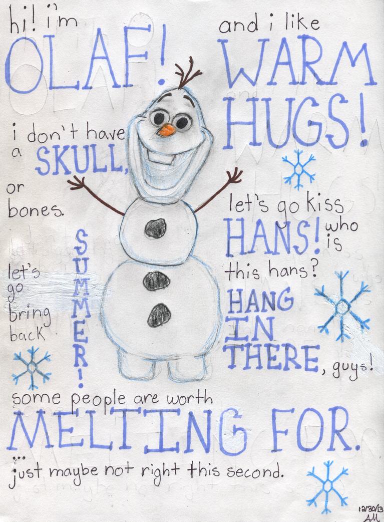 Hi! I'm Olaf! by PuppyDawg1022