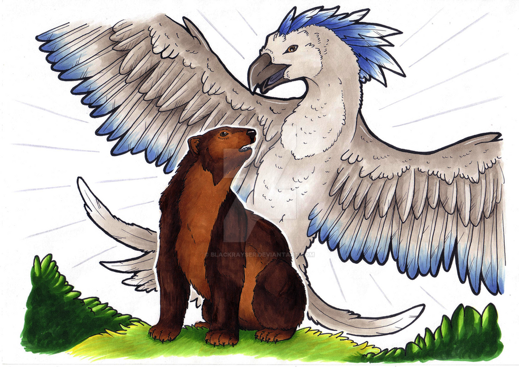 The willow-wren and the bear by BlackRayser