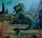 Underwater Beauty [Commish] by BlackRayser