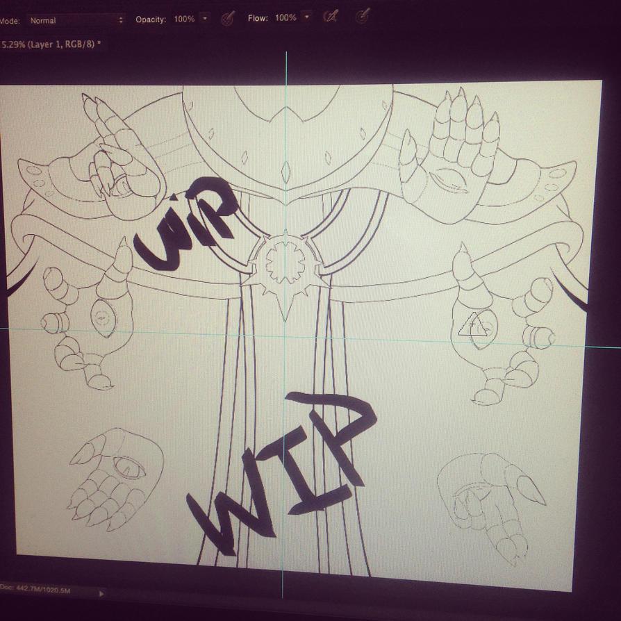 Wizeman WIP 2 by LordressViper
