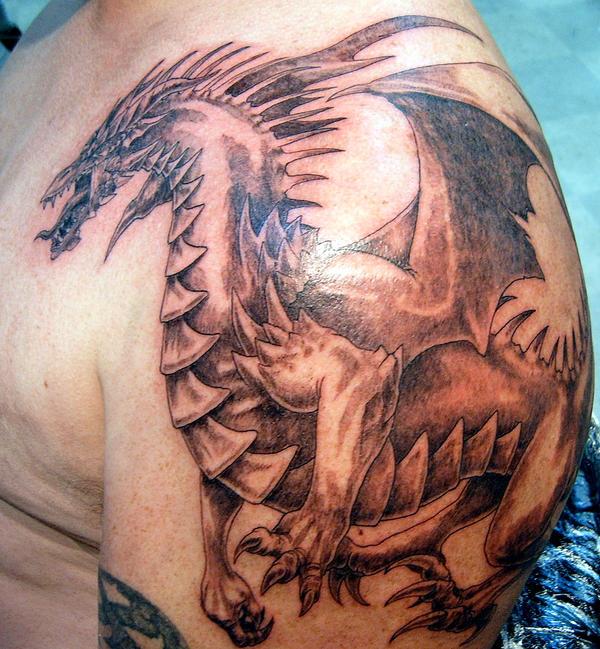 shoulder dragon 2 - shoulder tattoo