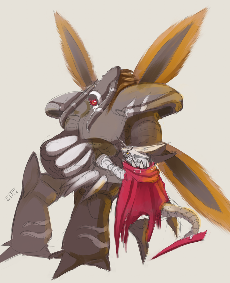 Hackmon and Grandis by J3rry1ce on DeviantArt