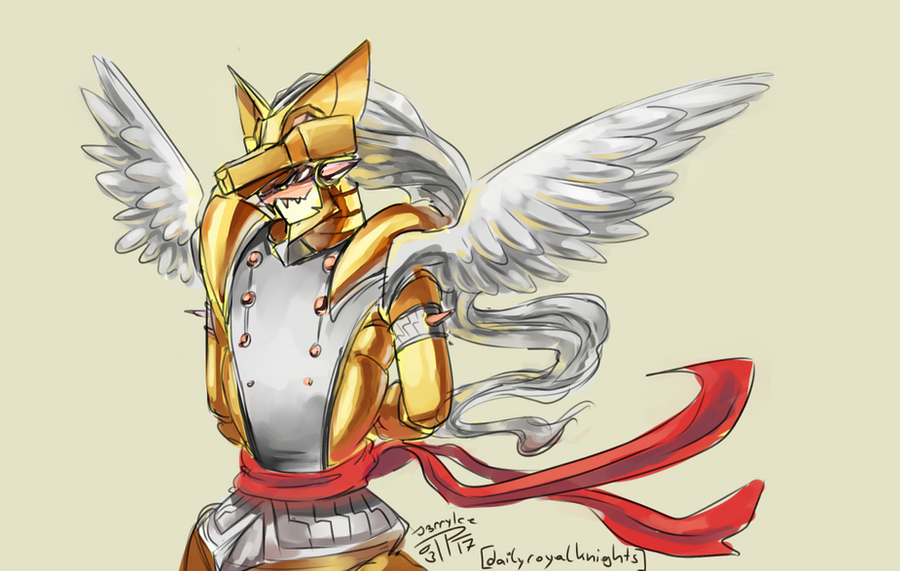 Daily Royal Knights - Duftmon Neopet brush Gold by J3rry1ce