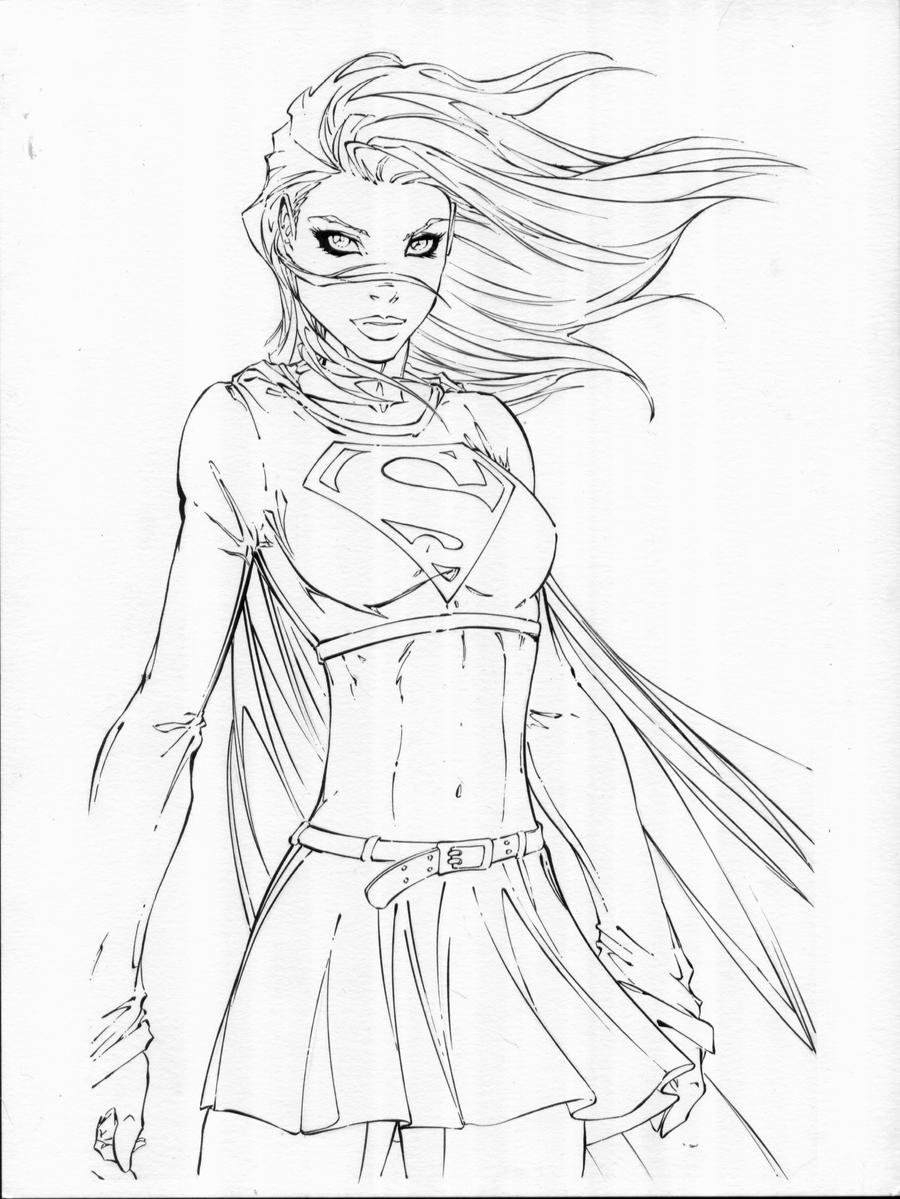 turner supergirl inks by TonyKordos