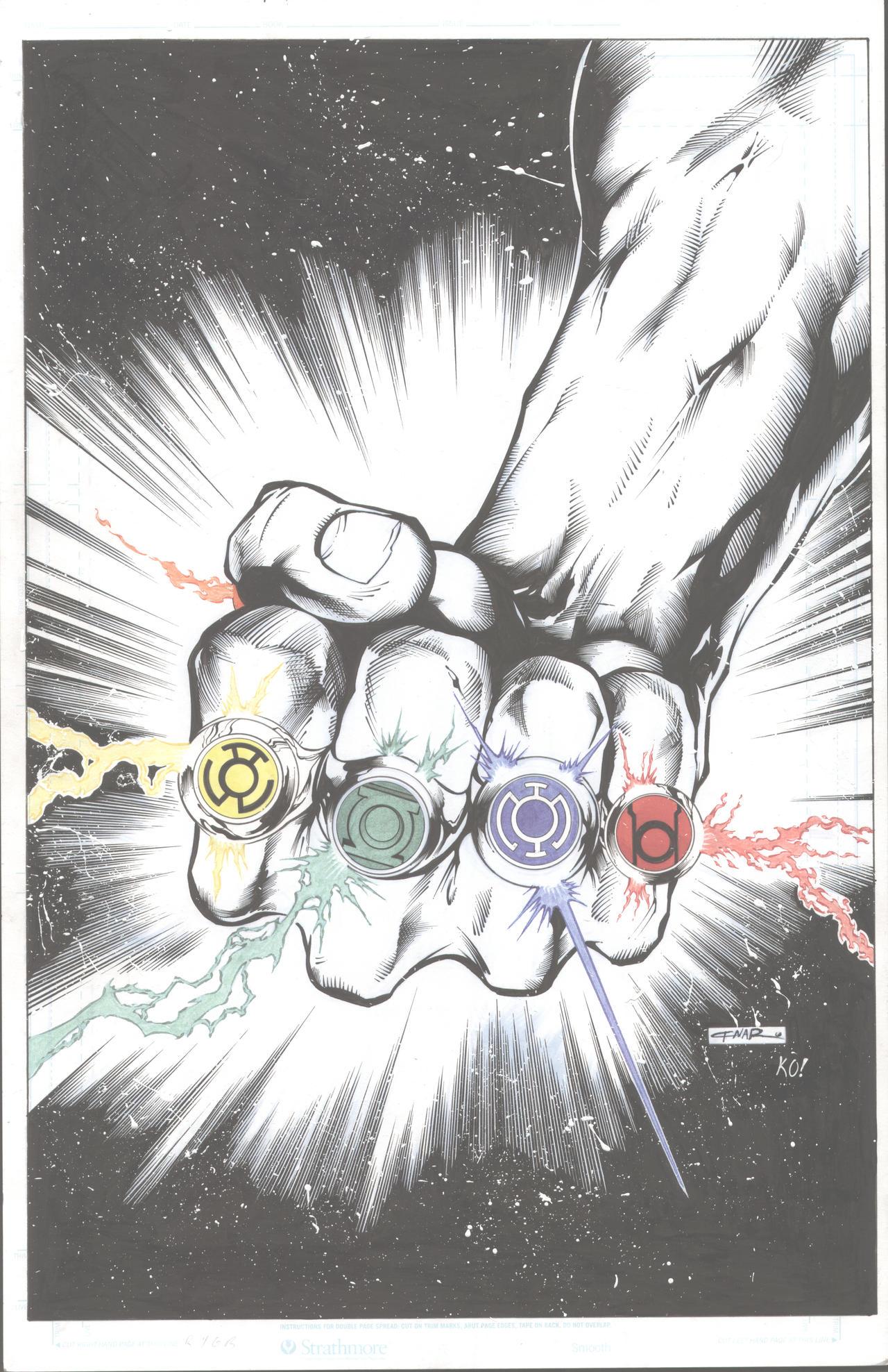 Legion Cover to Blackest night by TonyKordos