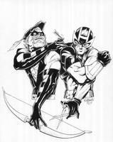 Green Arrow vs Hawkeye by TonyKordos