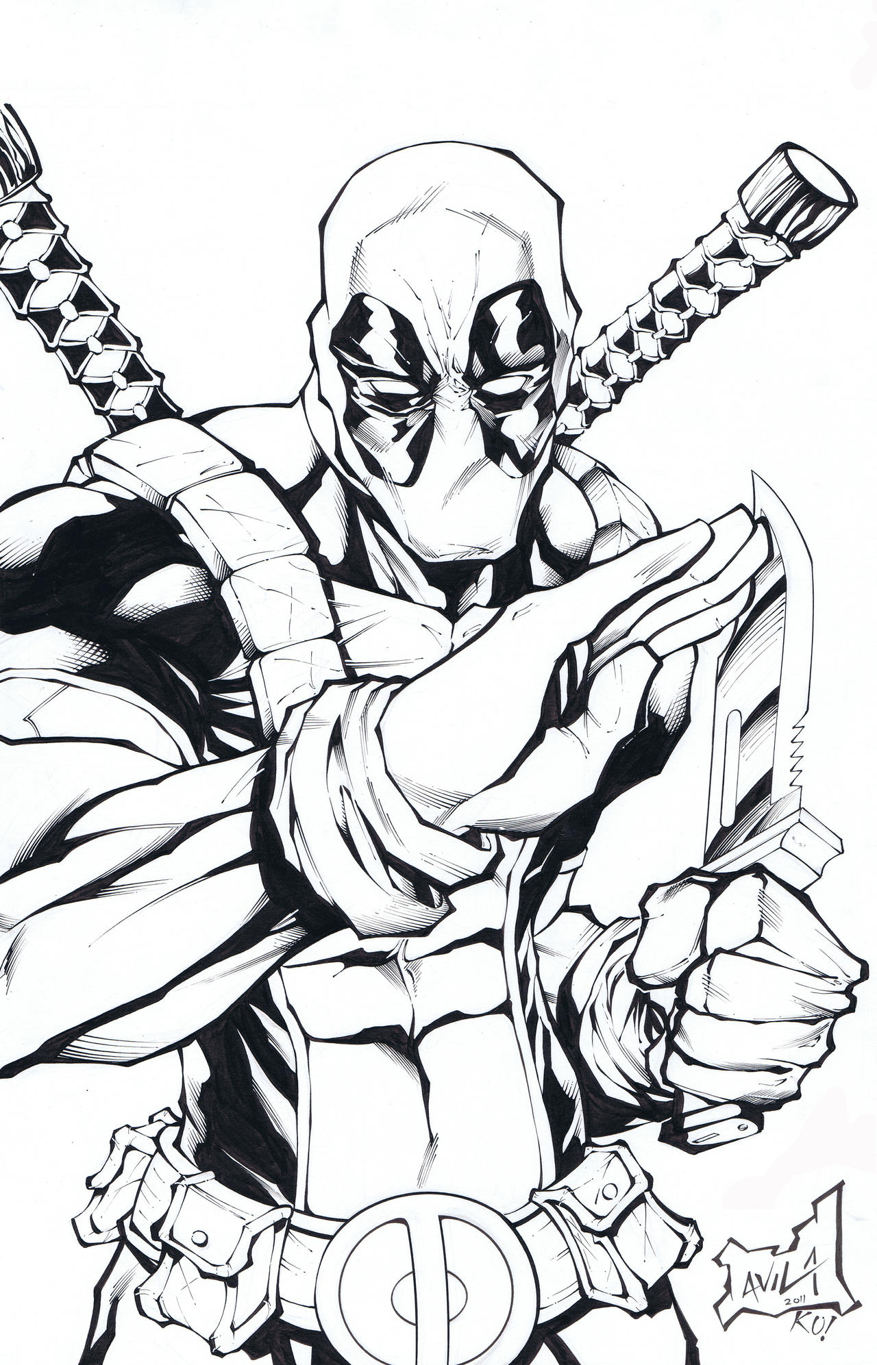Deadpool by tonykordos on deviantart for Deadpool coloring pages