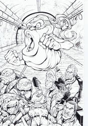 TMNT ghostbusters cover inks