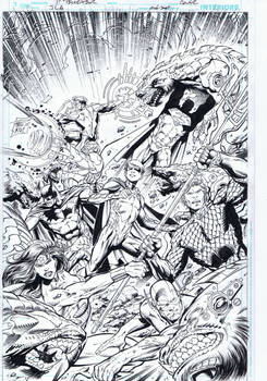 Justice League 51 Cover inks