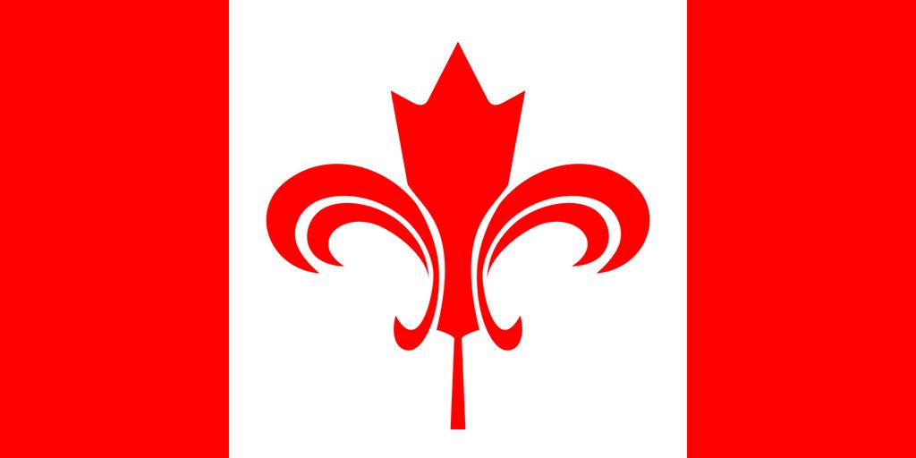 canadian duality flag: