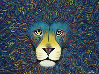 Blue Lion by ArtistSooHoo