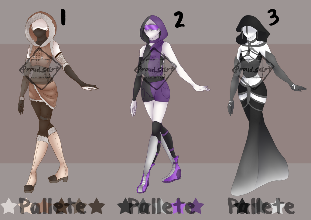 Outfit Adopts Batch 1 // OPEN by Prouds-Art