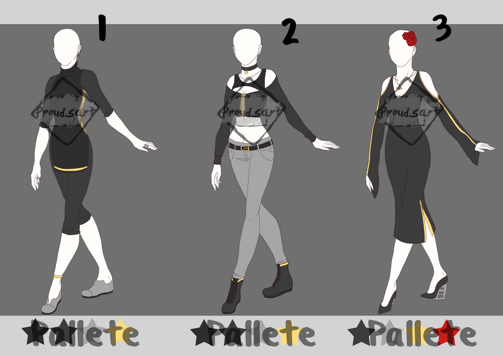 Outfit Adopts Batch 2 // Open by Prouds-Art