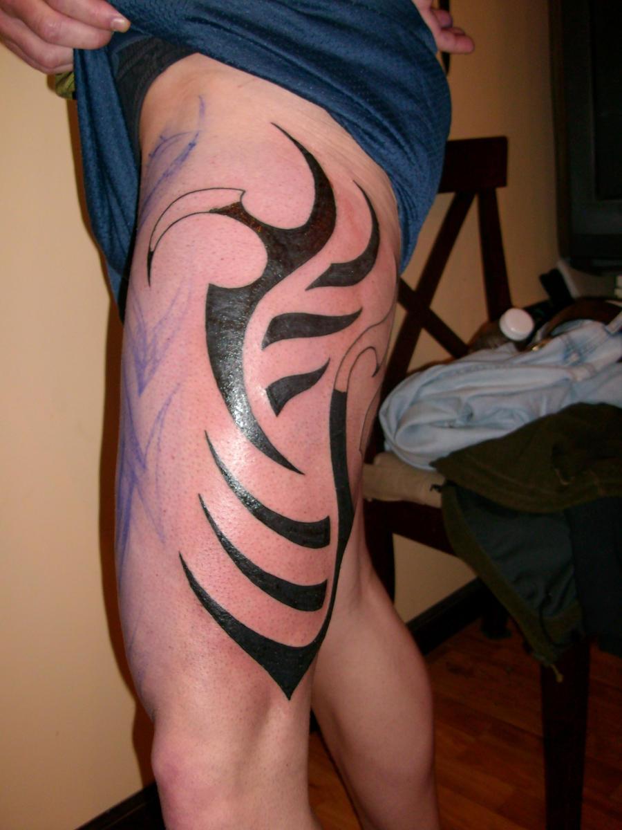 Predator thigh tribal by Xagamus on DeviantArt