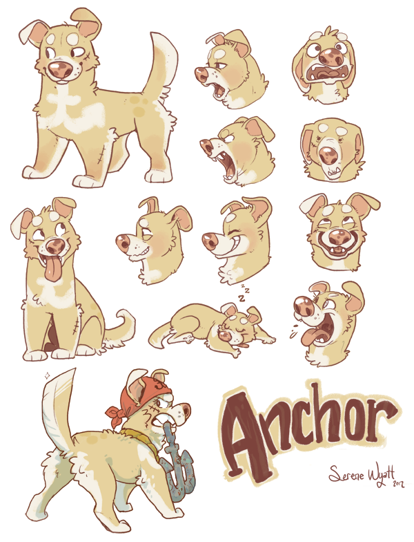 Animation Character Design Spot : Anchor the pirate dog by colonel strawberry on deviantart