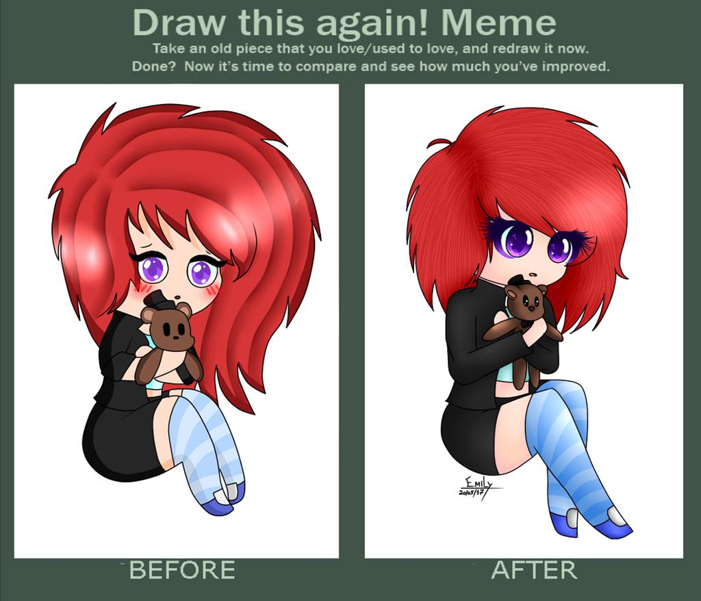 Draw This Again Meme -  Terry ( My Oc human) by Hiyori-Yamada