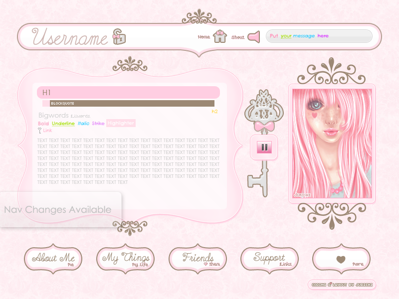 Pink Royal Imvu Layout By Jurishi On Deviantart