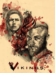 Ragnar and Lagertha by Deisydo