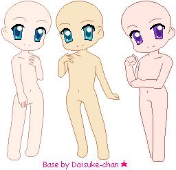 Chibi Bases 01 by KawaiiDaisukeChan