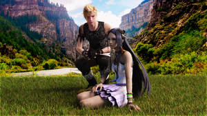 Prompto and Yeul by xHolyxLightx