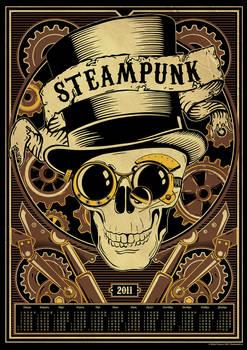 Steampunk calendar by Mixiw