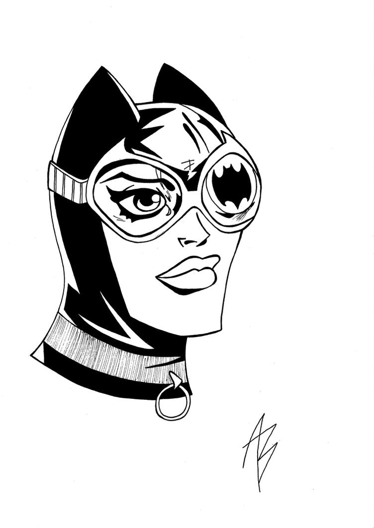 Catwoman Sketch by andreabocci