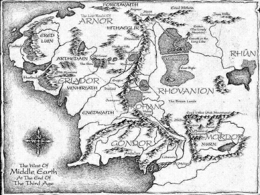Middle Earth Map by FiliandKili1824 on DeviantArt