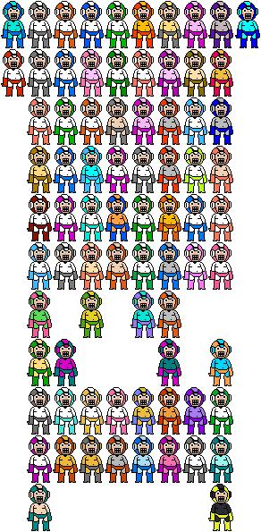 Mega Man Sprite Game Weapon Colors by Jordan2048