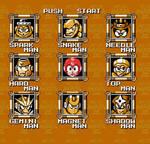 Mega Man 3 Gold Stage Select Screen by Jordan2048