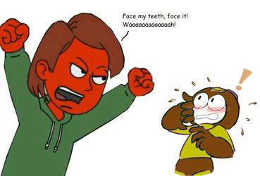 Mega Man vs Boris the Teeth Guy by Jordan2048