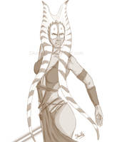 Shaak-ti sketch by Skunkle
