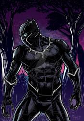 pin Black Panther raffide color03 copy by GuilhermeRaffide