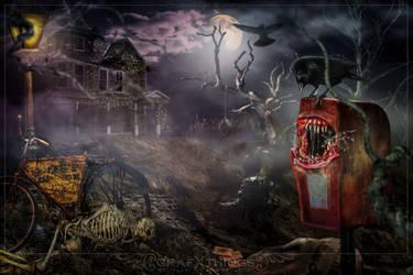 Creepy Mailbox by GrafXthings