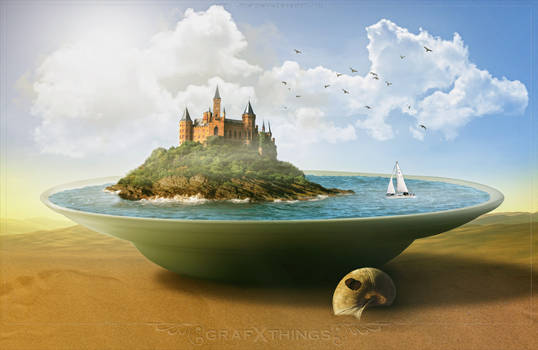 Tutorial Castle Island On The Plate by rafy A