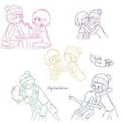 Corey x Laney doodles by diligi
