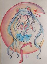 Sailor MOON by diligi