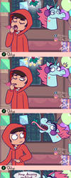 Mistletoe Saga 2- SVTFOE CHRISTMAS COMIC by diligi