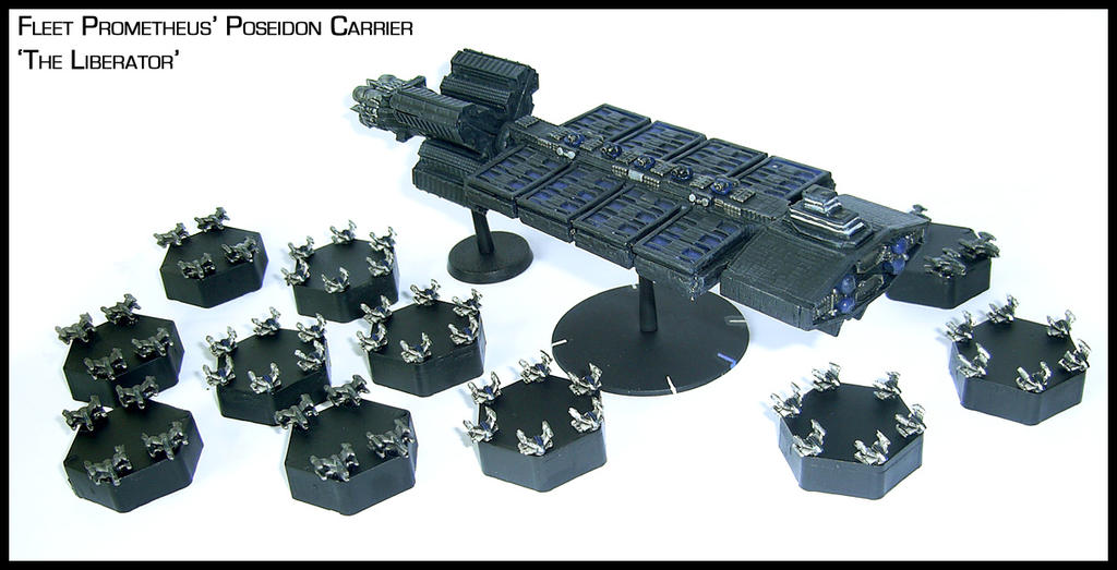 Babylon5 Poseidon Mega Carrier by Proiteus