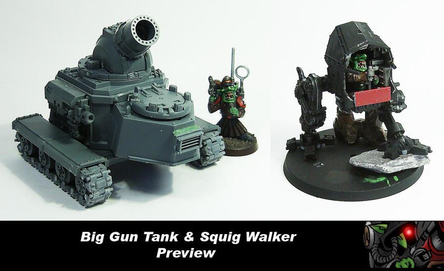 Big Gun + Squig Tank Preview by Proiteus