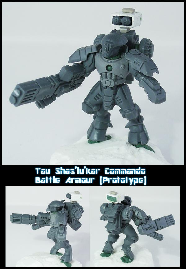 Tau Commando Battle Armour by Proiteus