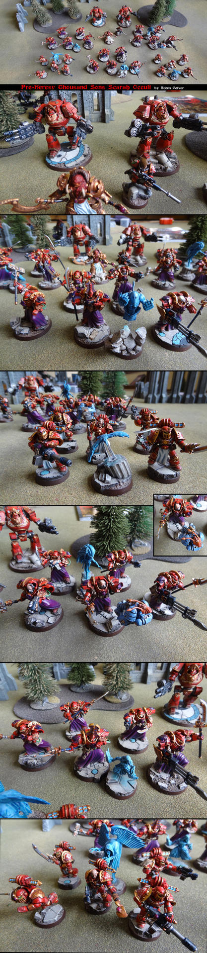 Pre-Heresy Thousand Sons Scarab Occult Army by Proiteus