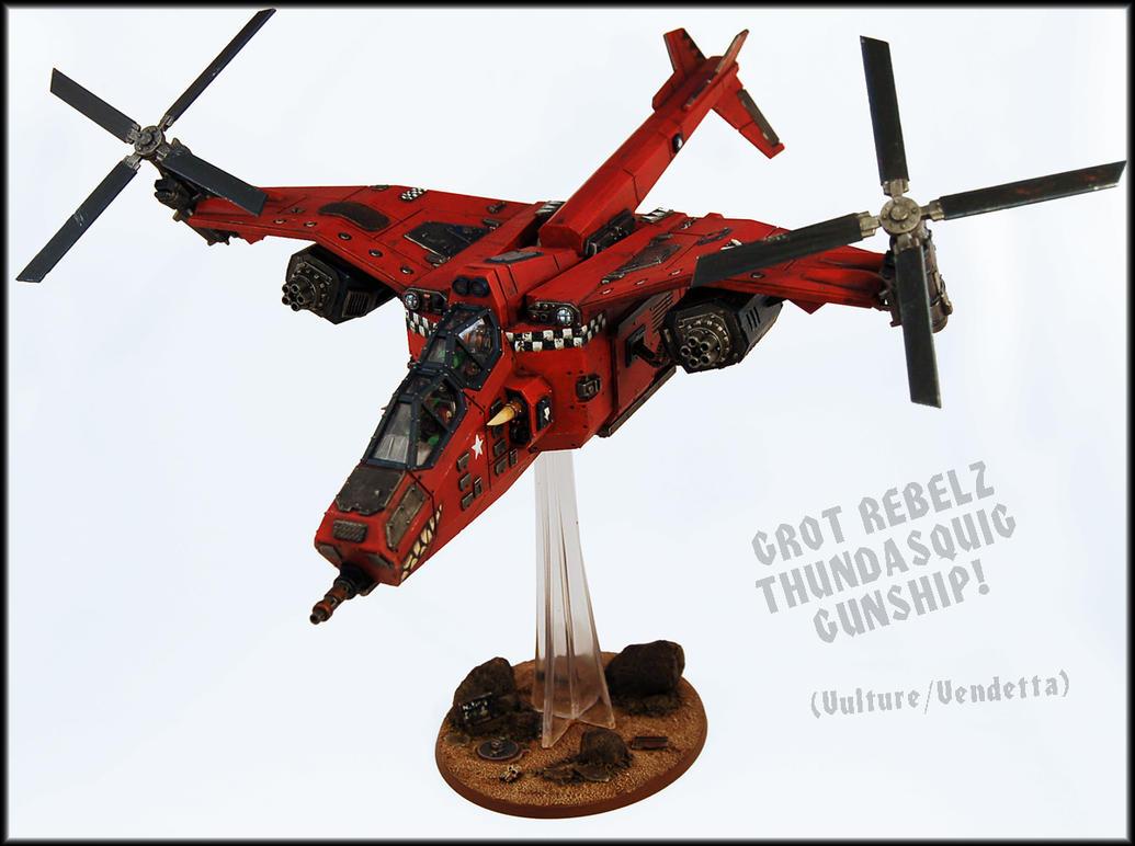 Da ThundaSquig Gunship (Vulture) by Proiteus
