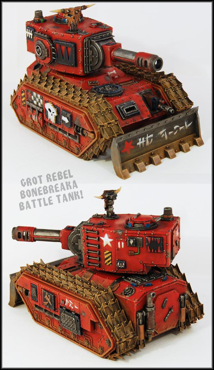 Grot Rebel Bonebreaka Battle Tank by Proiteus